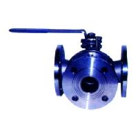 Three steel ball valve